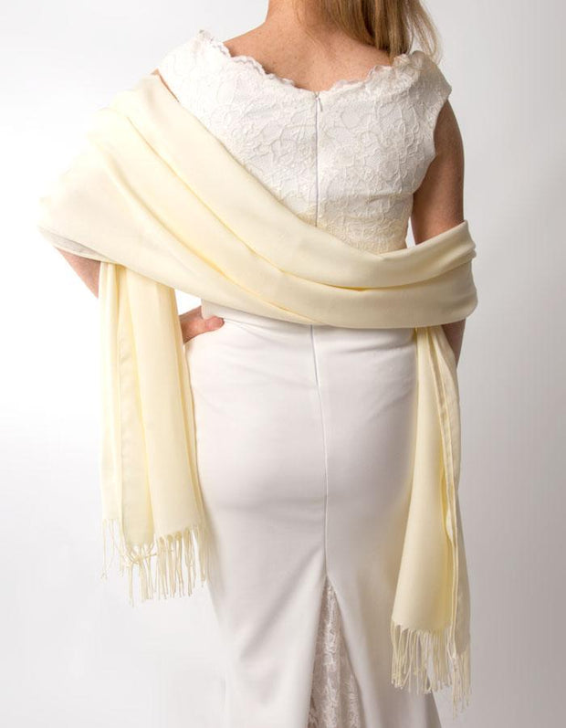 Cream Wedding Pashmina