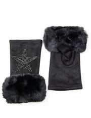 Fingerless Star Gloves | Black