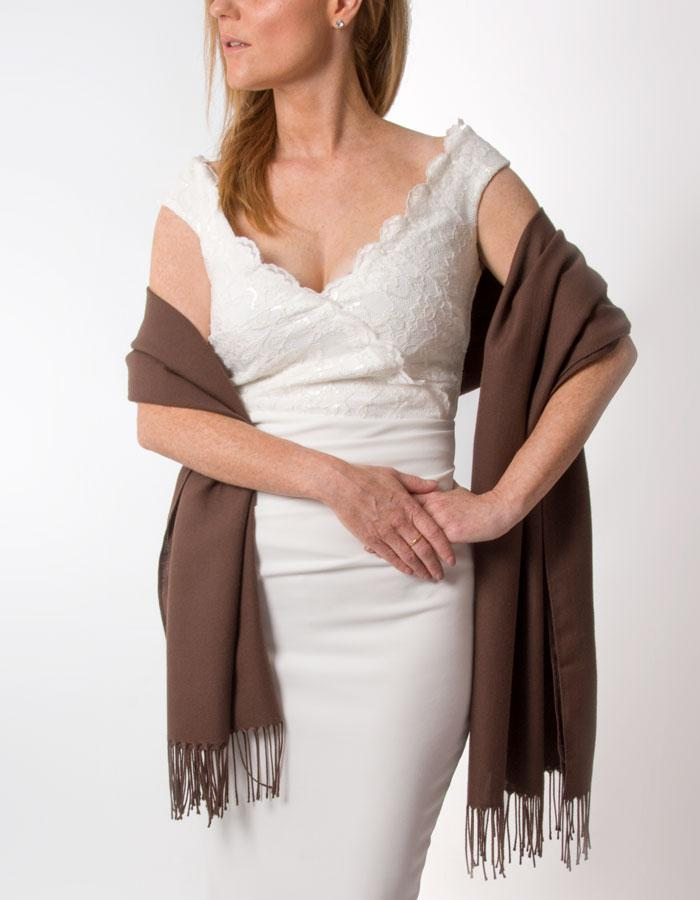 Brown Wedding Pashmina