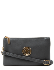 Dark Grey Clutch Bag | Toni