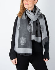 Dark Grey Blanket Scarf - Mulberry Tree