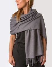 an image showing a dark grey pashmina