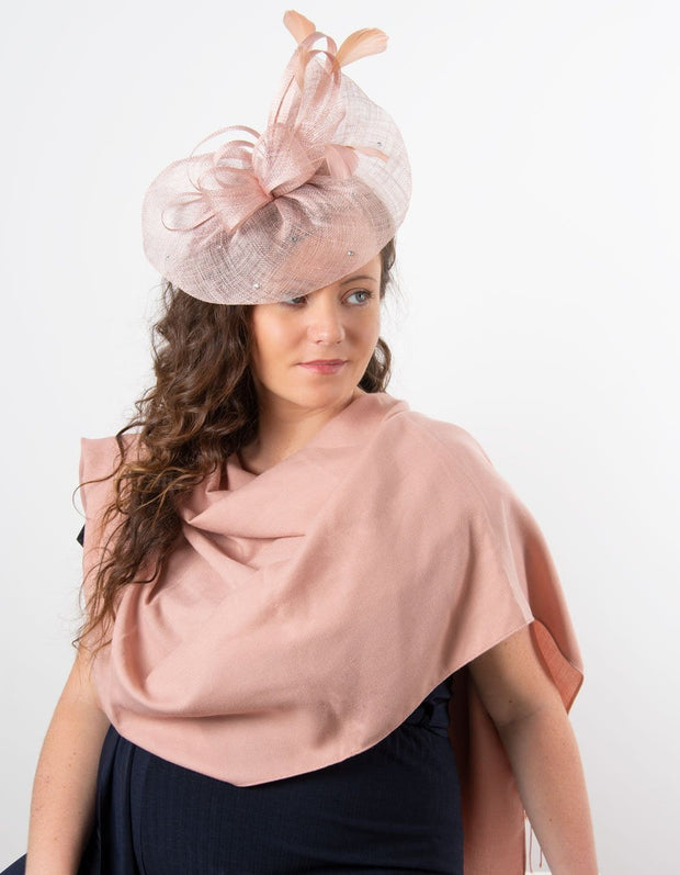 Dusky Pink Fascinator