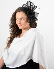 Fascinator Black Flower