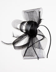 Fascinator Black Bow