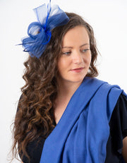 Fascinator Blue Bow