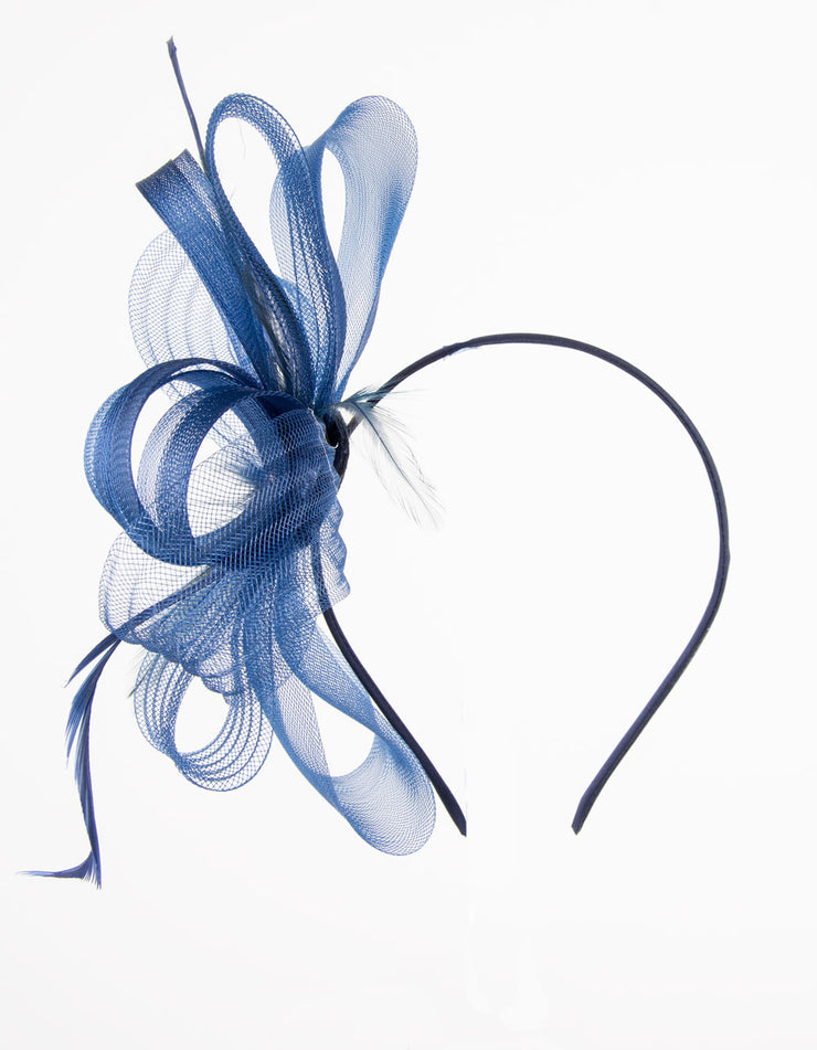 Fascinator Navy Bow