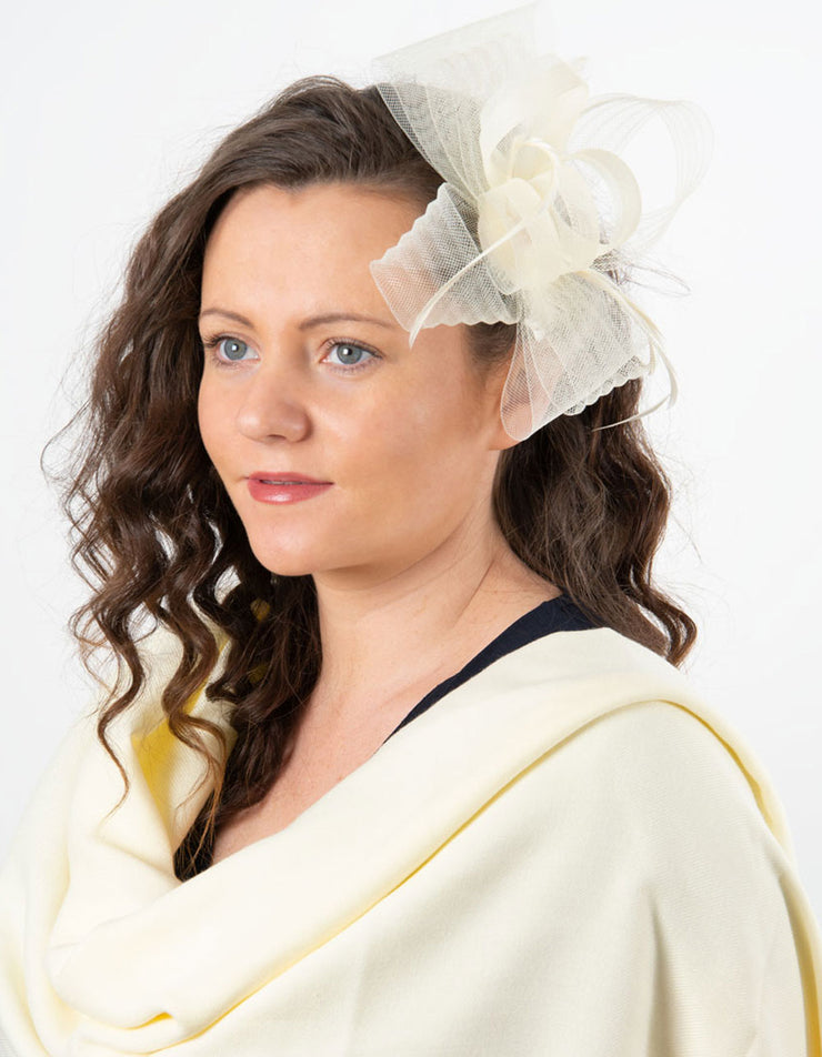 Fascinator Cream Bow