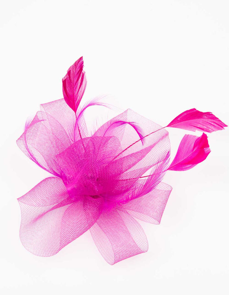 Fascinator Hot Pink Flower