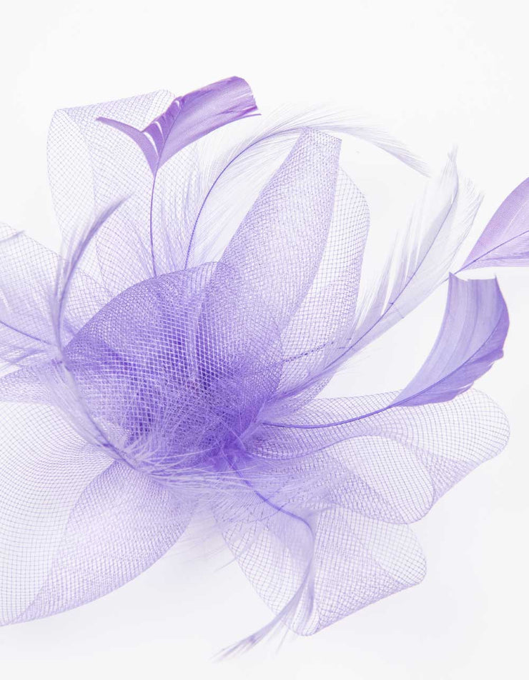 Fascinator Violet Purple Flower