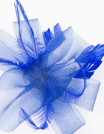 Fascinator Royal Blue Flower