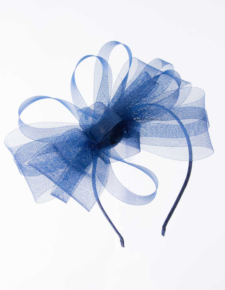 Fascinator Royal Blue Simple Bow