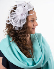 Fascinator White Flower