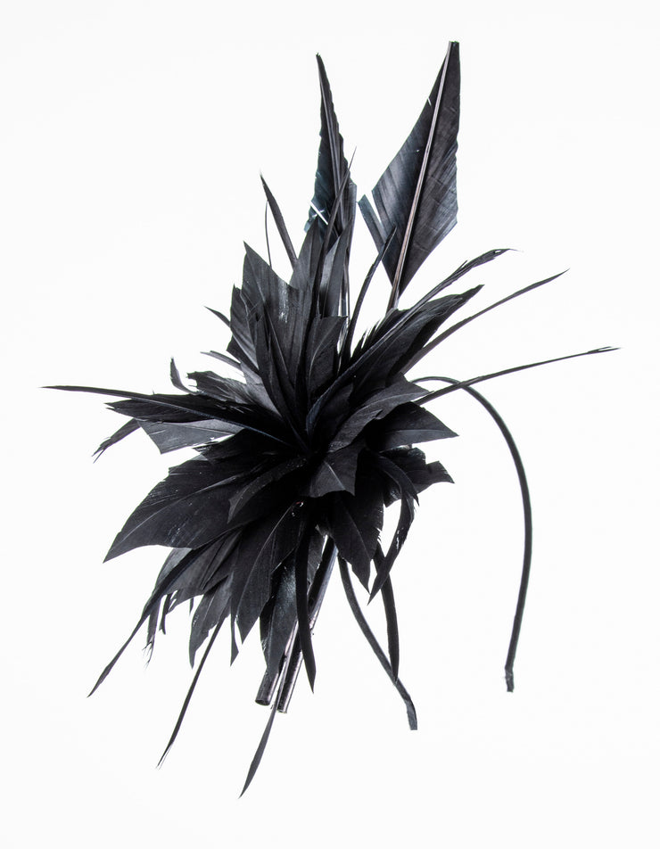Fascinator Black Feather