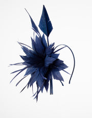 Fascinator Navy Feather