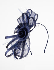 Fascinator Navy Flower