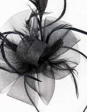 Fascinator Black Thin Feather