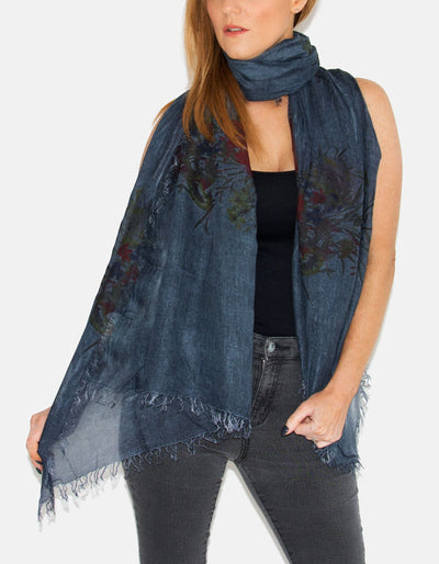 An image showing a dark blue scarf
