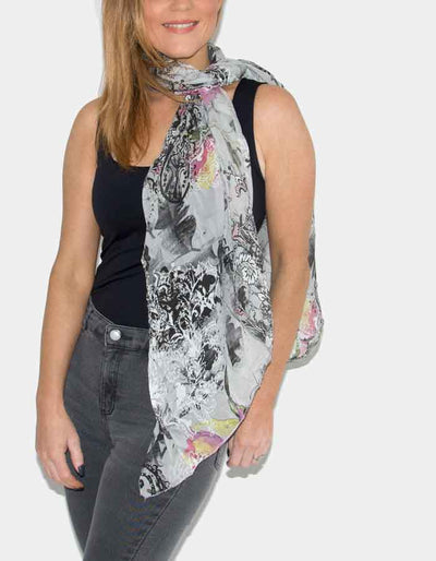 an image showing a floral print scarf