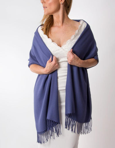 French Navy Wedding Pashmina