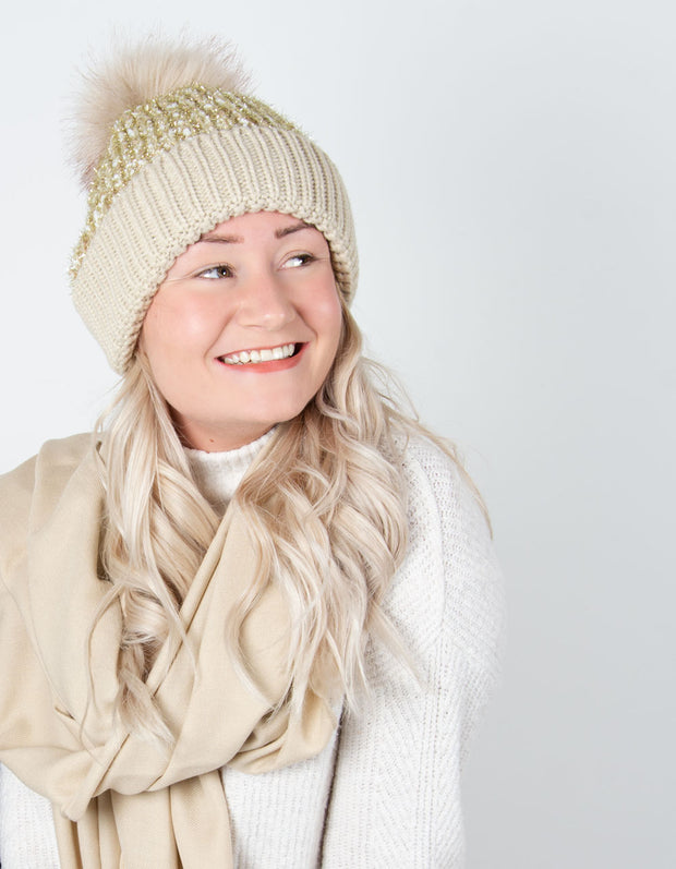 Gold Bobble Hat