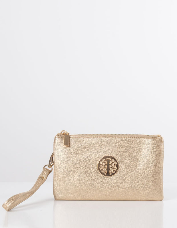 Gold Clutch Bag | Toni