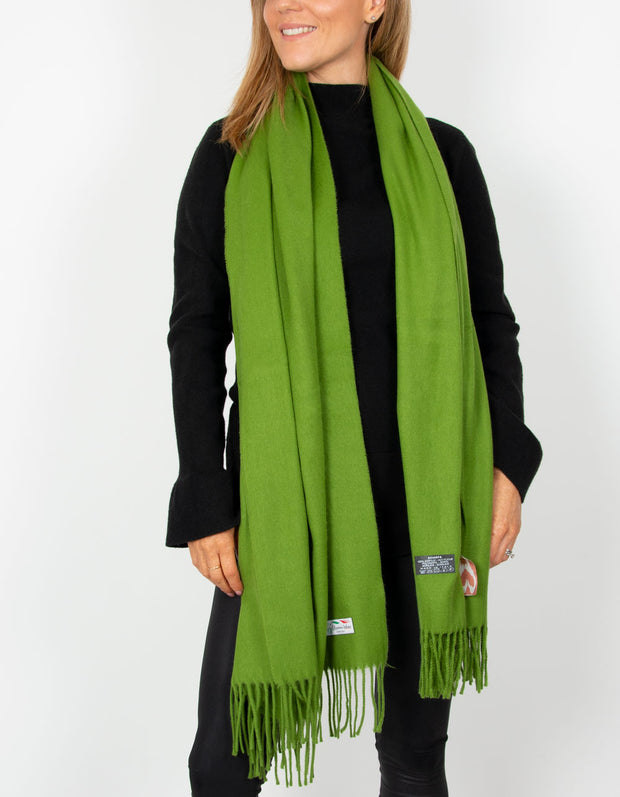 an image showing a green blanket scarf