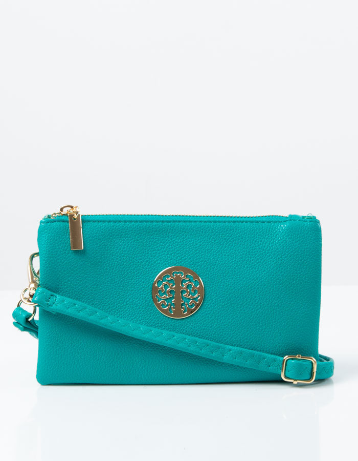 Green Blue Clutch Bag | Toni