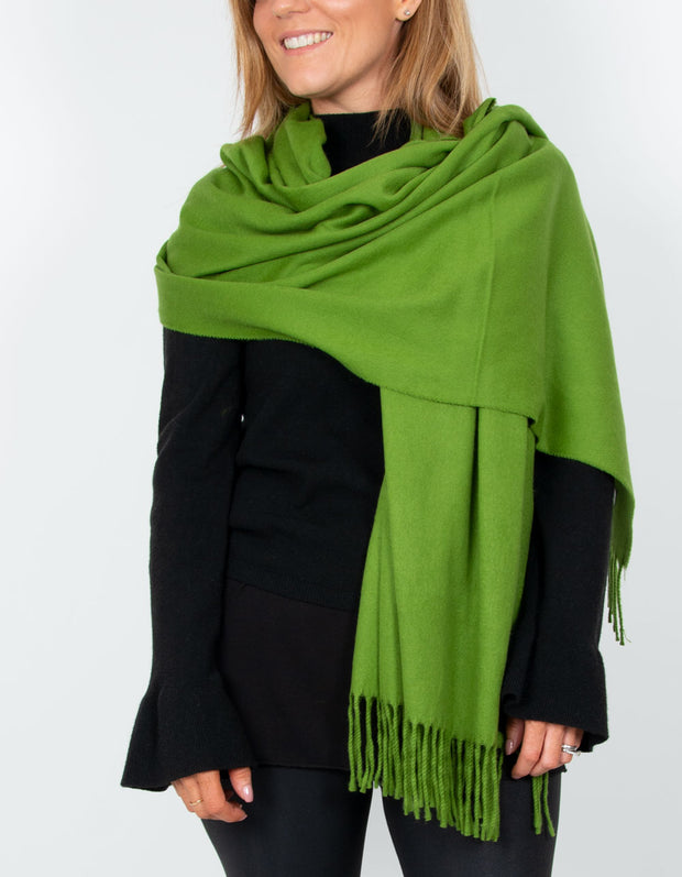 image showing a green winter pashmina