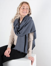 Dark Grey Cashmere Scarf