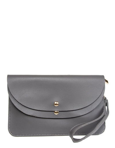 Dark Grey Clutch Bag | Jordan