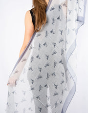 Grey Dalmation Print Scarf