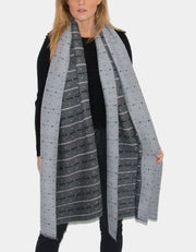 Grey Reversible Scarf