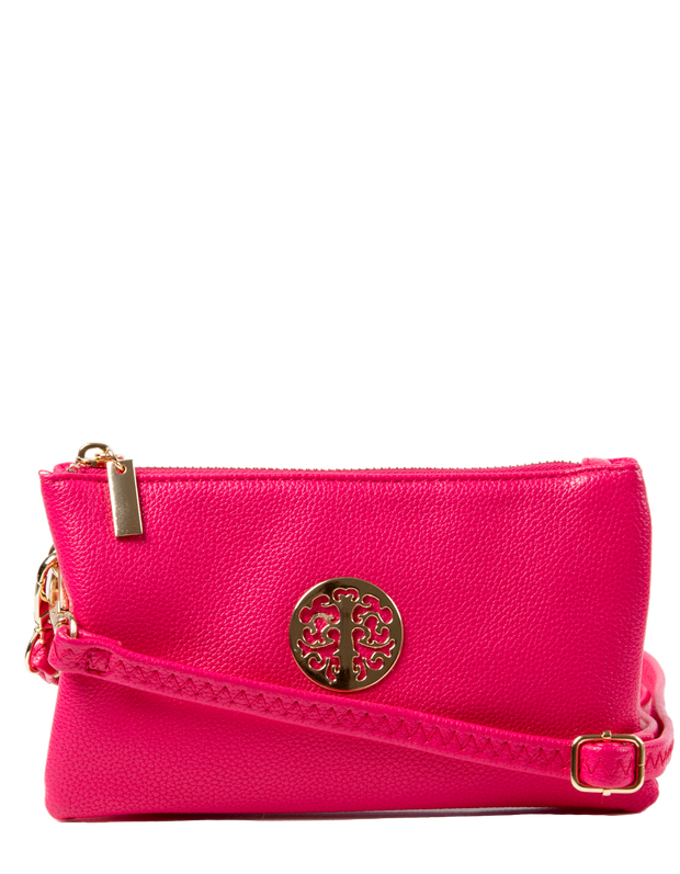Bright Pink Clutch Bag | Toni