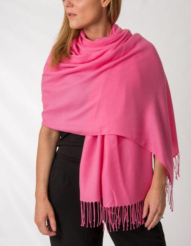 Image showing hot pink pashmina