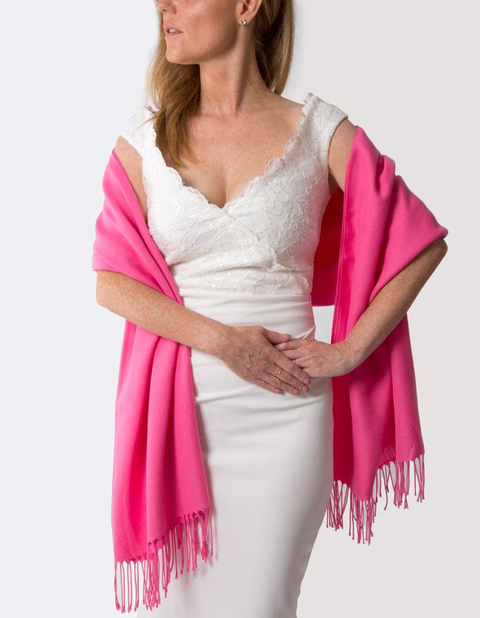Hot Pink Wedding Pashmina