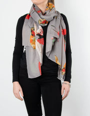 Hummingbird Scarf | Grey