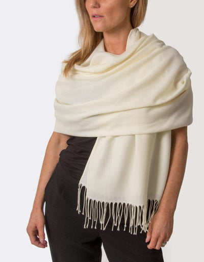 an image showing a cream pashmina