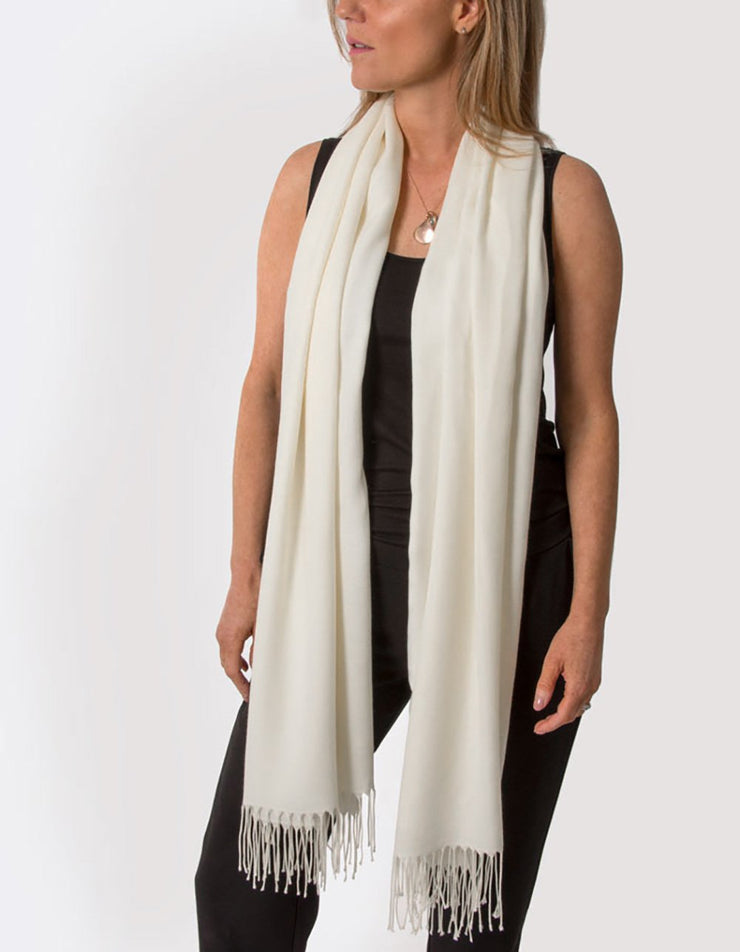 an image showing an ivory pashmina
