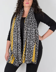 Leopard Print Scarf Yellow
