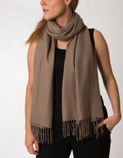 an image showing a light brown pashmina