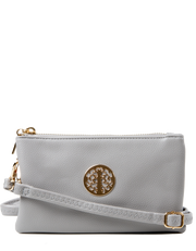 Light Grey Clutch Bag | Toni