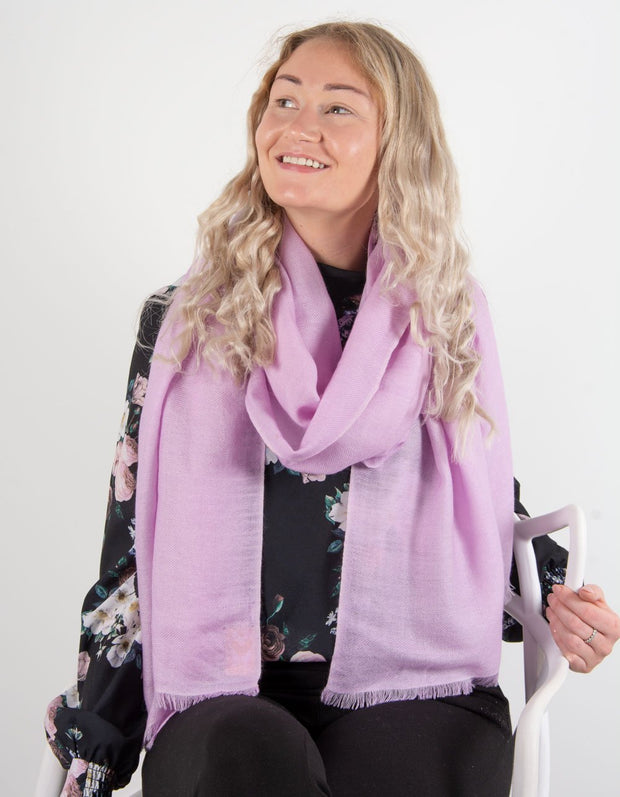 Lilac Cashmere Scarf