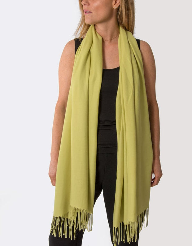 an image showing a lime green pashmina
