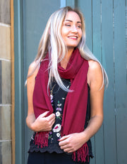 Mulberry Red Pashmina