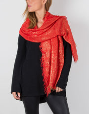 Red Metallic Pashmina