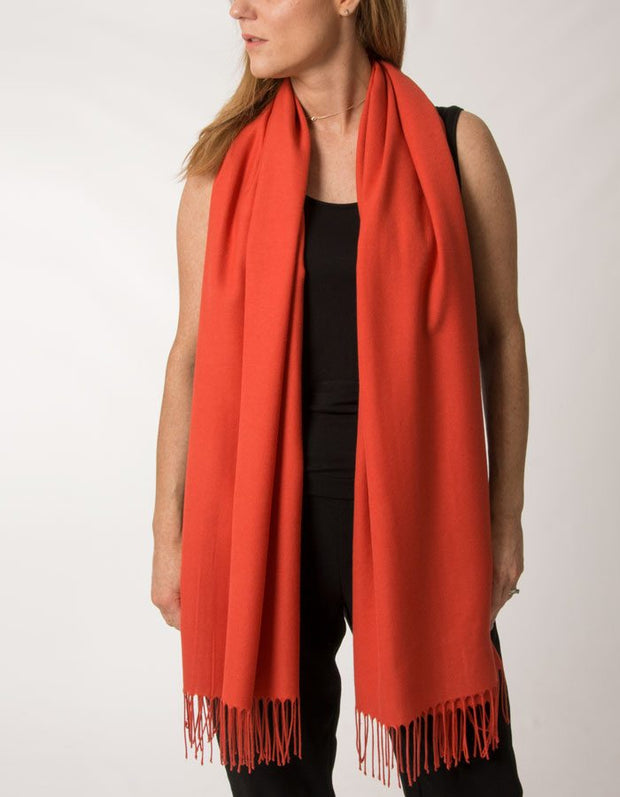 Image showing mandarin red pashmina
