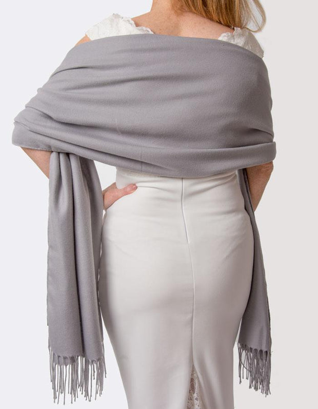 Mid Grey Wedding Pashmina
