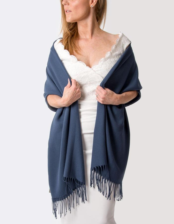 Moonlight Blue Wedding Pashmina
