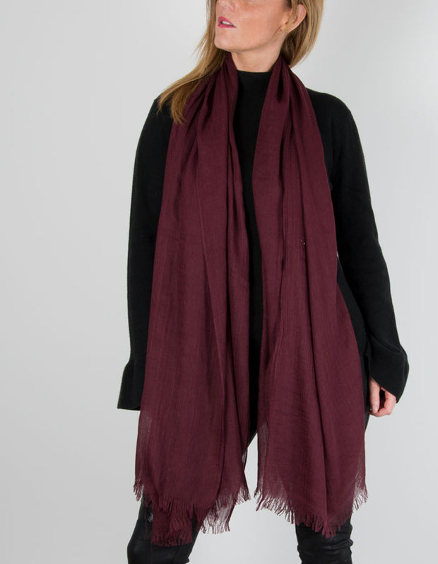 Image Showing a Mulberry Light Weight Scarf